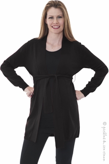Maternity Clothes: Sono Vaso Verona Cardy Black - Click to enlarge