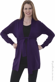 Maternity Clothes: Sono Vaso Verona Grape Cardy - Click to enlarge