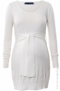 Maternity Clothes: Sono Vaso Musica Knit Ivory Tunic - Click to enlarge