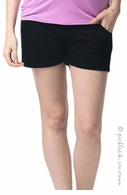 Camomile Maternity Shorty Shorts Black - Final Sale