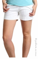 Camomile Maternity City Shorts White - Final Sale