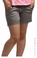 Camomile Maternity City Shorts Desert