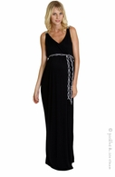 zzEverly Grey Maternity Black & Grey Braided Strap Sofia Maxi Dress-Final Sale