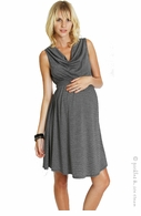 zzEverly Grey Maternity Black & Grey Stripe Nicole Dress-Final Sale