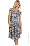 zzEverly Grey Maternity Snake Print Calista Faux Wrap Dress-Final Sale