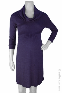Maternity Clothes: Michael Stars Maternity Shine Cowl Neck Dress Monarch - Click to enlarge