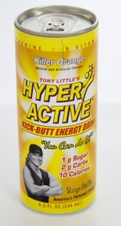 Hyper Active� Kick Butt Energy Drink - Killer Orange