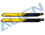 325 Carbon Rotor Blade/Yellow HD323A