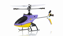 4CH Mini  Helicopter 9958 hot selling 2.4GHz Single-Propeller with Gyro  (Purple) RC Remote Control Radio