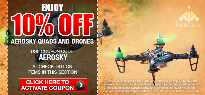 Aerosky Quadcopters & Drones Take Extra 10% OFF