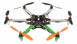 AeroSky 550 Drone  6 Channel Hexacopter Almost Ready to Fly (Green) RC Remote Control Radio