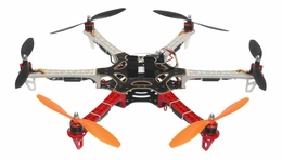 AeroSky 550 Drone  6 Channel Hexacopter Almost Ready to Fly (Red) RC Remote Control Radio