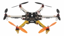 AeroSky 550 Drone  6 Channel Hexacopter Almost Ready to Fly (Yellow) RC Remote Control Radio