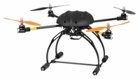 AeroSky C6 Drone  6 Channel Carbon Quadcopter Almost Ready to Fly RC Remote Control Radio