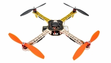 AeroSky  Quadcopter Drone 4 Channel ARF w/ LED, Motor, ESC, MWC Flight Control Board  (Yellow) RC Remote Control Radio