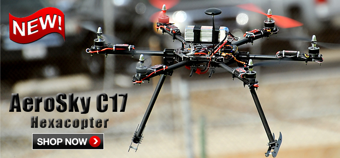 <center>New AeroSky C17 Professional UAV Hexacopter Available in RTF, ARF & KIT</center>
