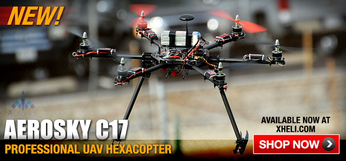 New AeroSky C17 Professional UAV Hexacopter Available in RTF, ARF & KIT