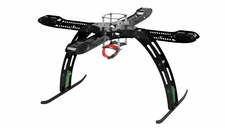 CR4-400 QuadCopter Fiber Glass KIT w/ Camera Mount (Black)