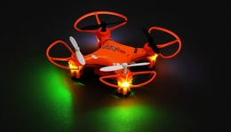 CX Model Nano 2.4ghz 5CH 6 Axis Gyro LED Quadcopter Ready to Fly (Orange) RC Remote Control Radio