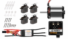 Dynam 450 Brushless <otor+40A ESC+4PCS 9g servos+GY48V gyro for Trex/EXI 450