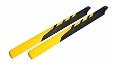 EXI-450 Carbon Fibre Main Blade for Electric 450-class RC Helicopter (325mm-Yellow)