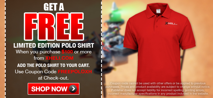 Free Limited Edition Polo on Orders of $100 or More. Code: FREEPOLOXH
