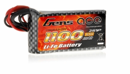 Gens Ace 1100mAh 1C 6.6v LiFe- lithium phosphate Battery