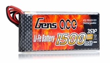 Gens Ace 1500mAh 1C 9.9v LiFe- lithium phosphate Battery