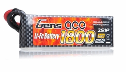 Gens Ace 1800mAh 1C 6.6v LiFe- lithium phosphate Battery