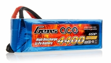 Gens Ace 4400 mAh 65C 6 Cells Lipo Battery