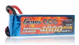 Gens ace LIPO Battery 4000mAh 60-120C 14.8V