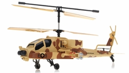 GunShip Focus 3396 Co-Axial 3.5 Channel  Helicopter RTF + Built in Gyro (Camo) RC Remote Control Radio