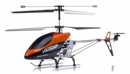 "Hero RC 26"" H853 Newest 3 Channel Outdoor Volitation Metal RC Helicopter w/ Built in Gyro (Orange)"