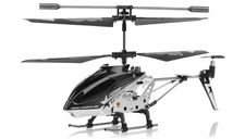 Hero RC  H288 Gyro Star   3 channel Metal Micro Helicopter Genuine and Manufactured by Syma S107/S107G OEM w/ bonus blades, balance bar, connect buckle, tail blade & tail decoration (Black) RC Remote Control Radio