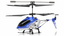 Hero RC  H288 Gyro Star   3 channel Metal Micro Helicopter Genuine and Manufactured by Syma S107/S107G OEM w/ bonus blades, balance bar, connect buckle, tail blade & tail decoration (Blue) RC Remote Control Radio