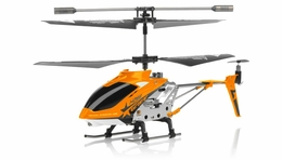 Hero RC  H288 Gyro Star   3 channel Metal Micro Helicopter Genuine and Manufactured by Syma S107/S107G OEM w/ bonus blades, balance bar, connect buckle, tail blade & tail decoration (Orange) RC Remote Control Radio