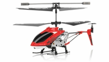 Hero RC  H288 Gyro Star   3 channel Metal Micro Helicopter Genuine and Manufactured by Syma S107/S107G OEM w/ bonus blades, balance bar, connect buckle, tail blade & tail decoration (Red) RC Remote Control Radio