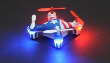 Hero RC Mini World USA Micro 2.4ghz 4CH 6 Axis Gyro LED Quad Copter Ready to Fly w/ Headless Mode