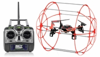 Hero RC  Sky Matrix H1306 4 CH  QuadCopter Drone 2.4ghz 6-Axis Gyro Ready to Fly (Red)  Extra bonus battery RC Remote Control Radio