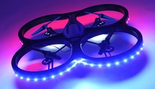 Hero RC XQ-5 V626 UFO Drone with Camera and LED 4 Channel 6 Axis Gyro Quadcopter 2.4ghz Ready to Fly