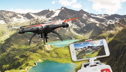 Hero RC SYMA Super X5HW WiFi FPV 0.3MP HD Camera 2.4G 4 Channel 6-axis Gyro RC Drone Quadcopter RTF w/ Live Video +Altitude Hold Function +360-degree 3D Rolling Mode +3 Batteries +Extra Set Blades +Extra Charger