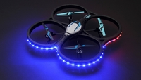 Hero RC  XQ-5 V626 UFO Drone with Camera and LED 4 Channel 6 Axis Gyro Headless Mode Quadcopter 2.4ghz Ready to Fly w/ 4GB Memory Card & Extra Battery RC Remote Control Radio UAV