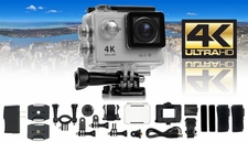 HobbyPartz Ultra HD 4K Sport Action Camera WIFI 1080P HD HDMI 12MP+ 170 degree Wide Angle Shockproof Waterproof Case Lithium Batteries 1920*1080@60/30fps DV Camcorder, Car DVR Recorder, Diving, Underwater, Skating, Racing