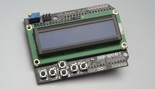 LCD1602 character LCD, input and output expansion board, LCD Keypad Shield