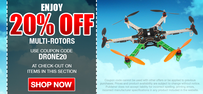 Multi-Rotors Sale! 20% OFF with Code: DRONE20 On All Items in this Section.