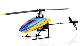 New 6 channel 2.4 GHz Exceed RC  XH100 Micro 3D  Helicopter RTF w/ 6CH 2.4Ghz DEVO-7 Transmitter + Gyro + Servos (Blue) RC Remote Control Radio