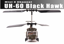 New Syma Mini Micro Palm Sized 3 Channel Ready to Fly Indoor UH-60 Black Hawk