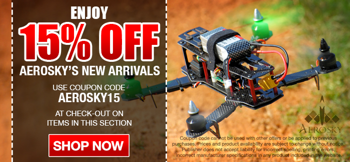 Take 15% OFF AeroSky's New Arrivals! Coupon Code: AEROSKY15