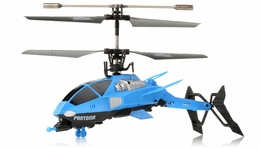 Pantoma 3.5 Channel IR Control Transforming Helicopter with Gyro (Blue) RC Remote Control Radio