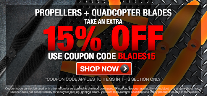 Props and Blades Take An Extra 15% OFF - Code: BLADES15